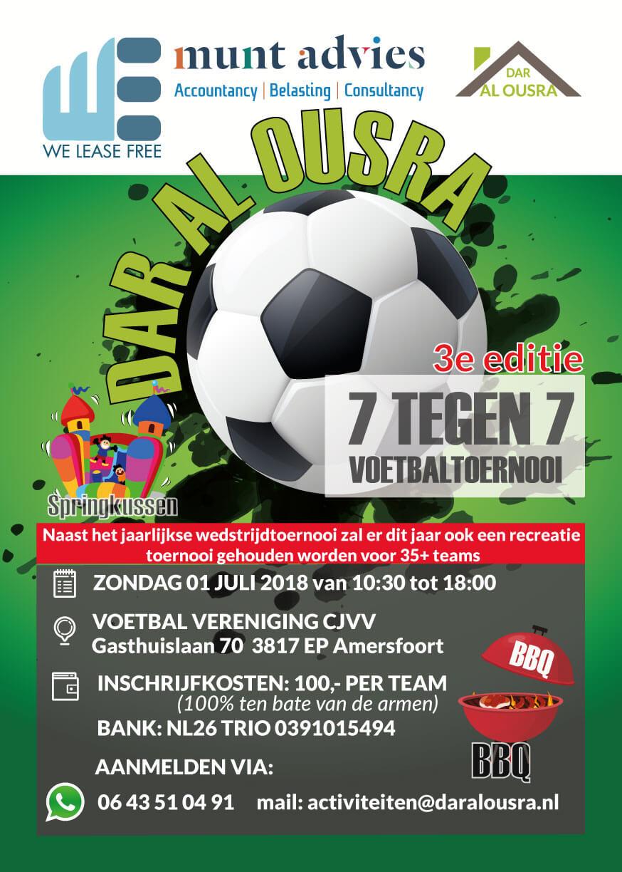 Dar Al OusraVeldvoetbal toernooi 7 tegen 7 voor de arme gezinnen